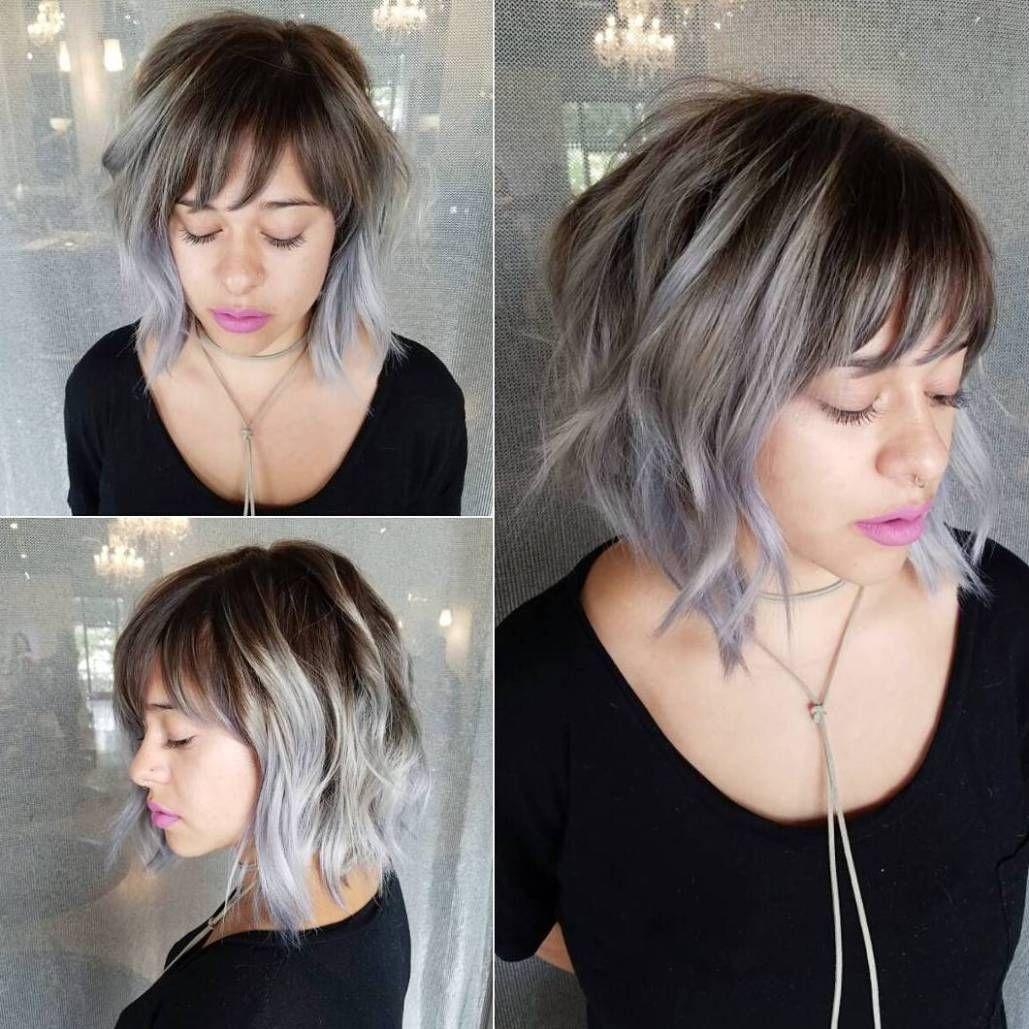fabulous choppy bob hairstyles gray balayage balayage and bobs