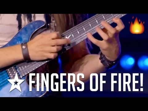 Fingers Of Fire | Best Shred Guitar Solo Performance On Got Talent