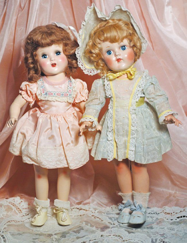 "~ Hard Plastic Horsman ""Mary Lou"" Dolls ~ Mohair Wigs"