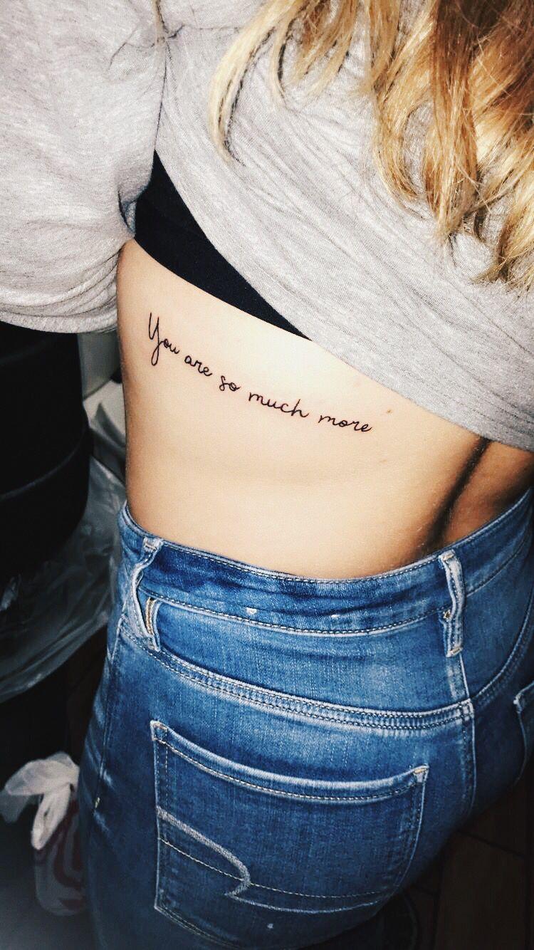 Tattoo Rib Tattoos For Women Cursive Tattoos Rib Tattoo