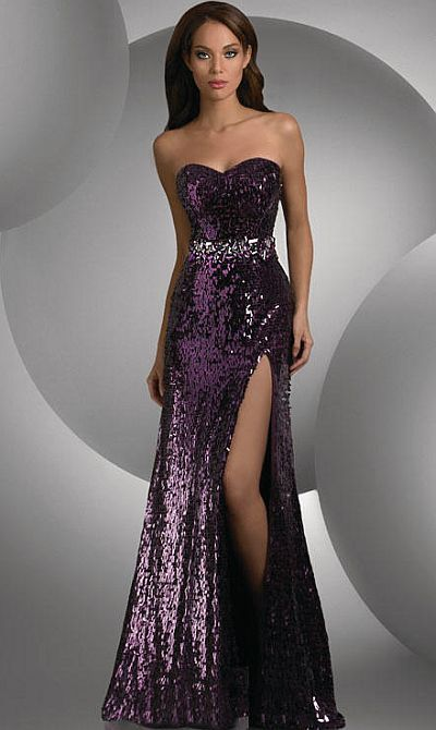 Size 4 Plum Shimmer Sequin Prom Dress 59406 by Bari Jay at ...