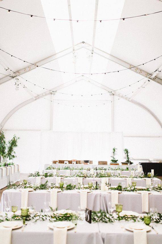 Green And White Wedding Decor Conservatory Of Flowers San