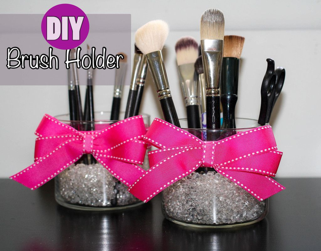 Diy Makeup Brush Holder Tutorial Super Cute And Easy To