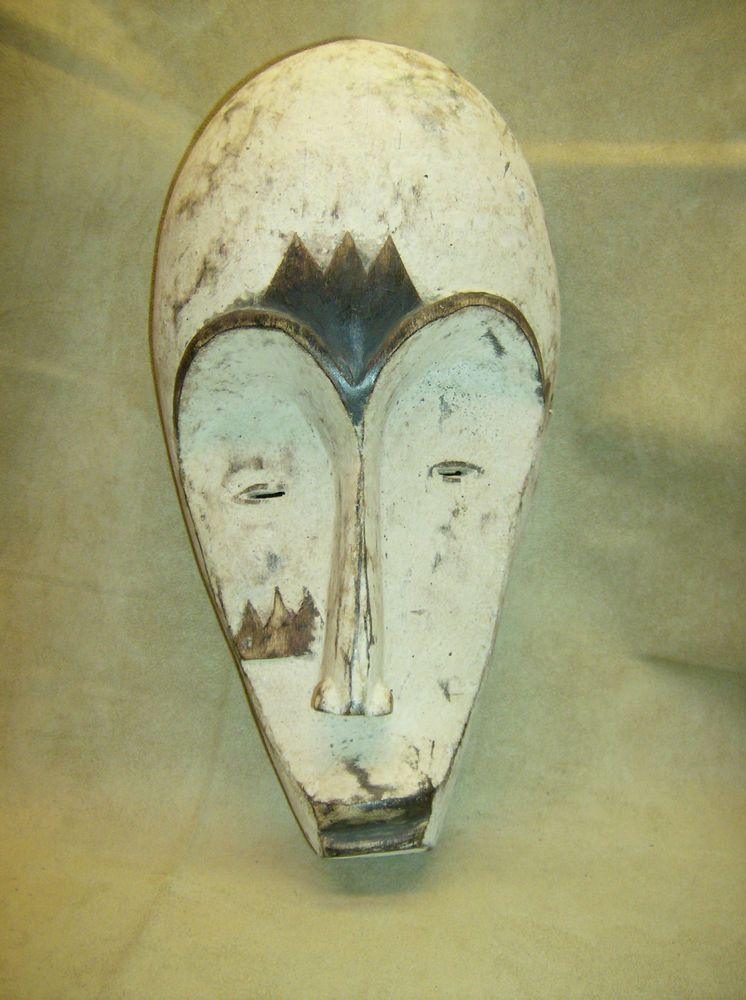 FANG NGIL Mask Wood Carved African Art Collectible