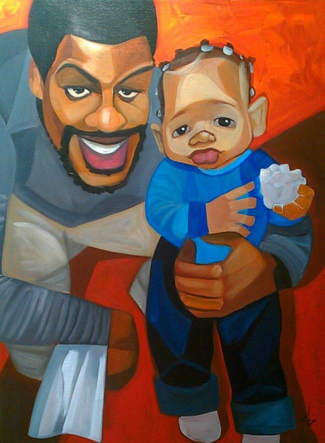 365 days with Dad....I love his work so talented!! Cute Amongst Giants by Cbabi Bayoc