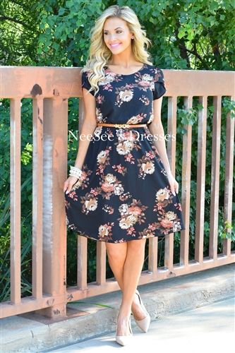 79cba29000c4 The Cassie is so gorgeous! The Cassie in Black - Neesee s Dresses Black  Floral ...