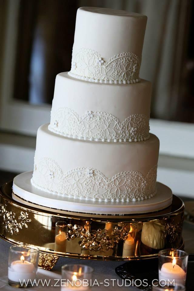 Fondant Wedding Cake Lace Piping Wedding Cake Vintage Wedding Cake Simple Wedding Cake White Wed Lace Wedding Cake Simple Wedding Cake Wedding Cakes Vintage