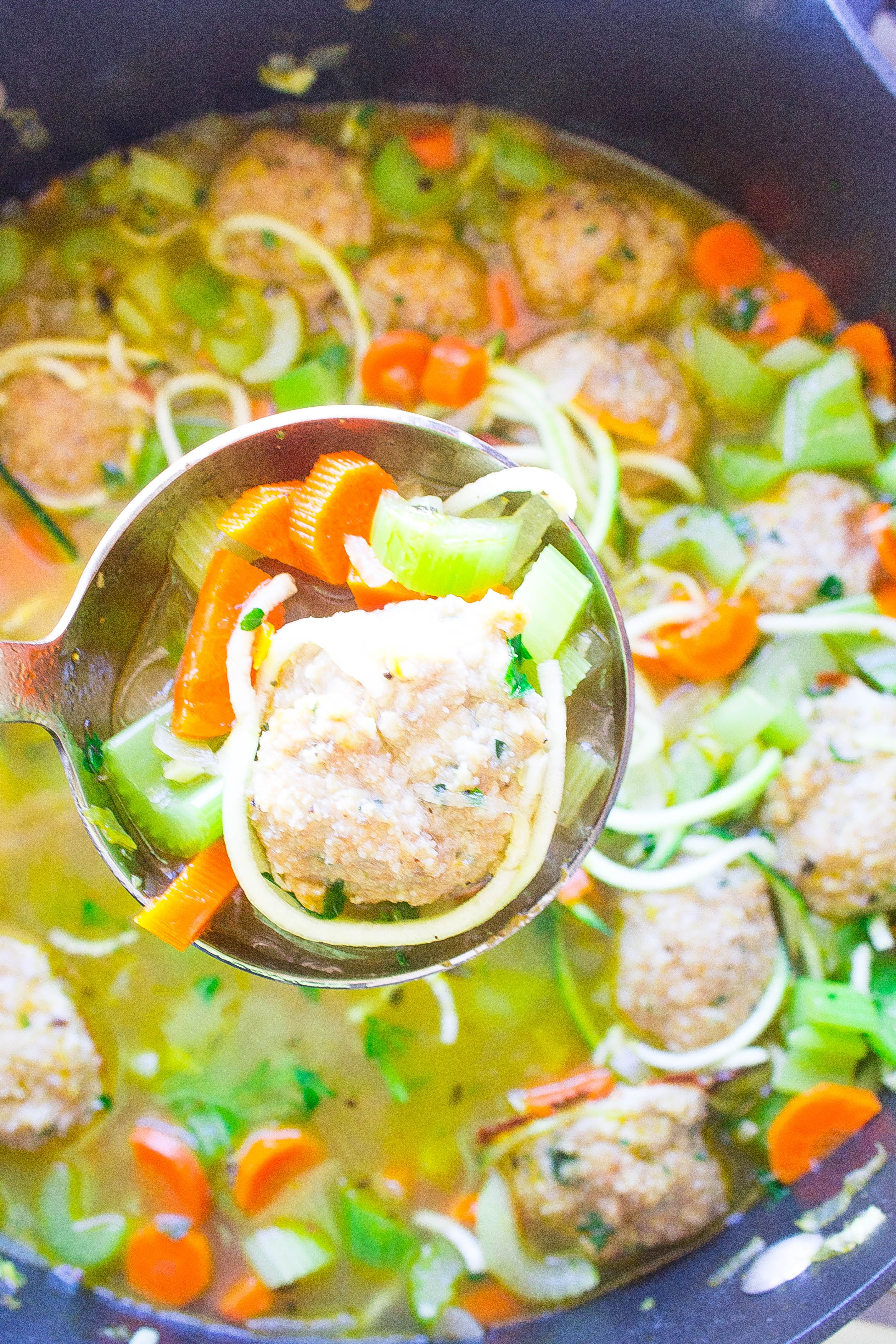 Chicken Zoodle Soup Chicken Zoodle Soup, made with zucchini noodles! Low carb, comforting and healthy!