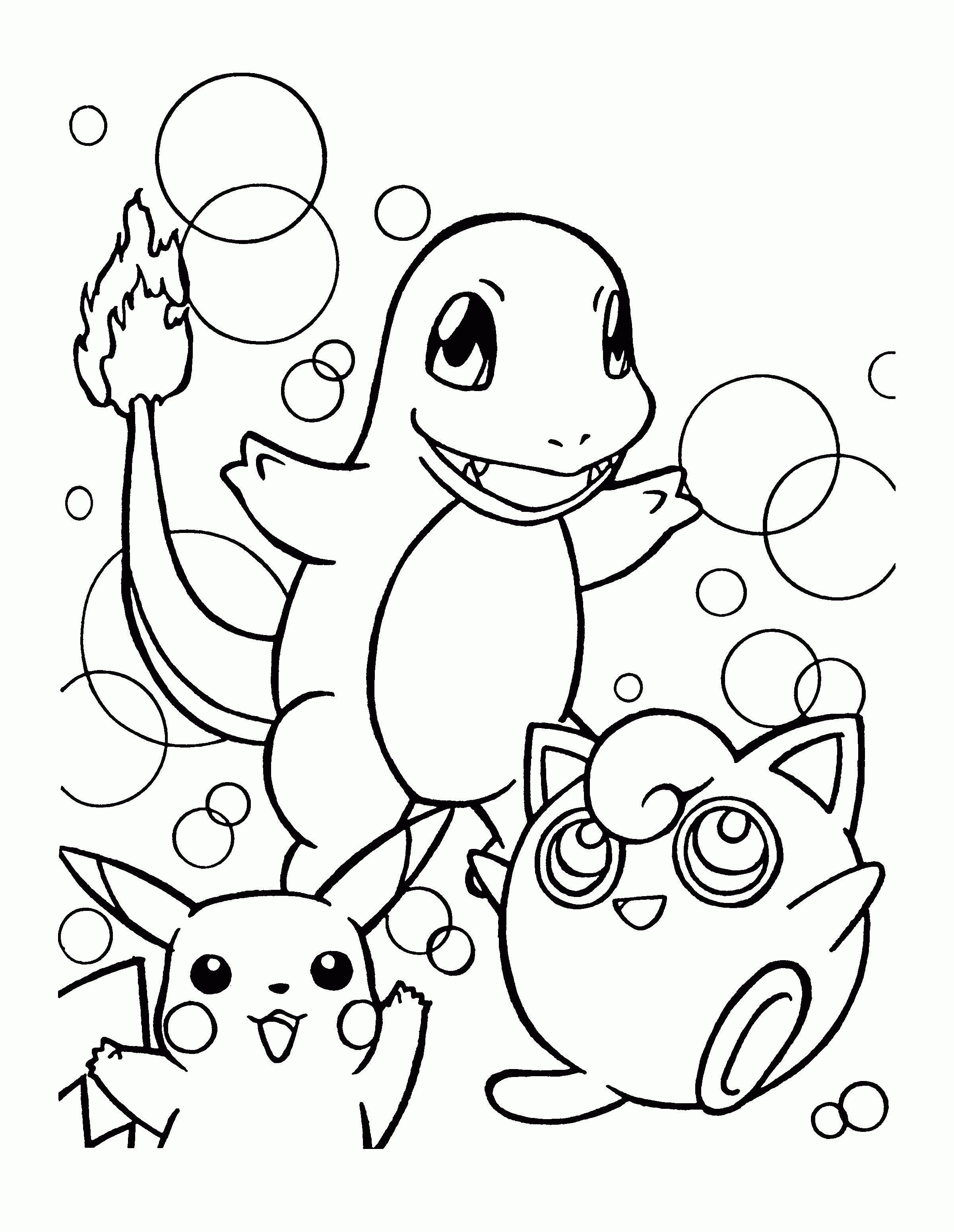 Pokemons kleurplaten charmander