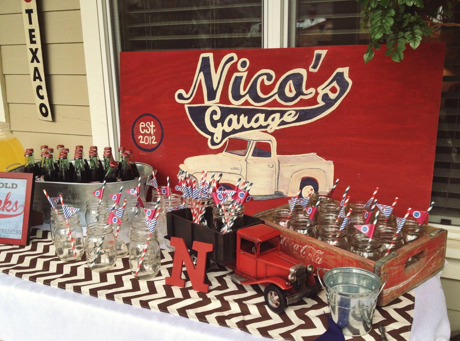 Nicos Garage Birthday Partyvintage Truck Theme
