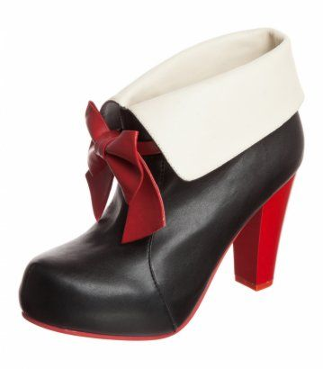 the latest 237f2 f17f1 ANGIE P - High Heel Stiefelette - schwarz/creme/rot Lola ...