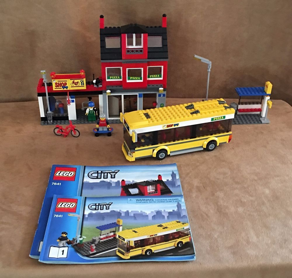 7641 Lego City Transportation Corner Town Pizza Shop Restaurant