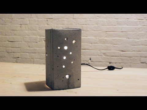 DIY A Lamp Using Concrete And A Milk Or Juice Carton!