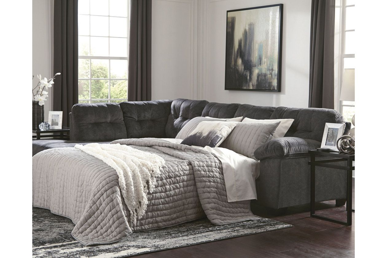 Accrington 2 Piece Sectional With Chaise And Sleeper Ashley Furniture Homestore Home Ashley Furniture Furniture