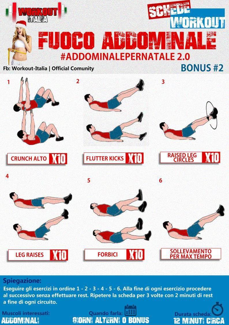 Addominale per natale la tua ginnastica per gli - Palestra a casa esercizi ...