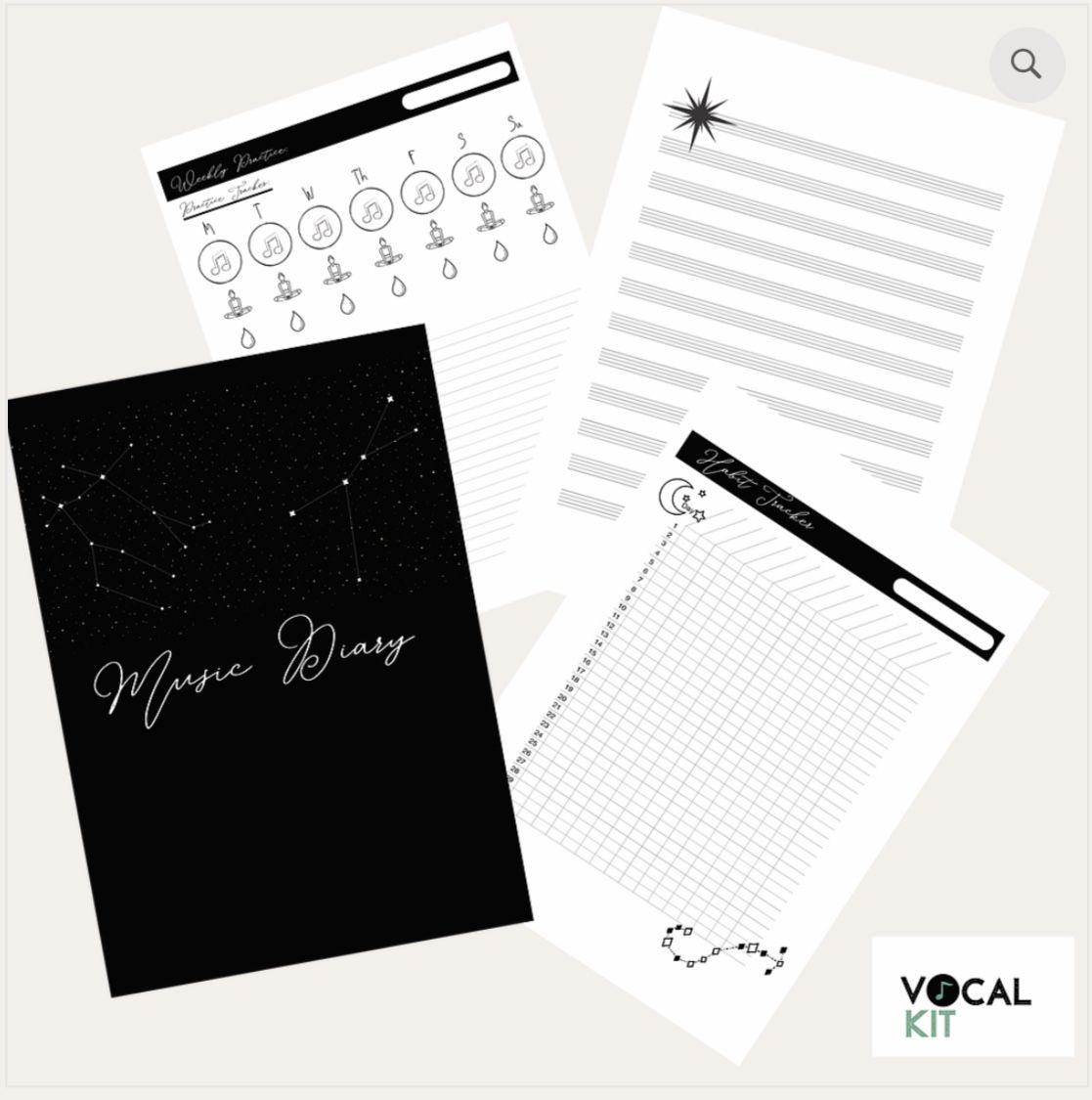 Musicians Mindful Music Practice Diary In