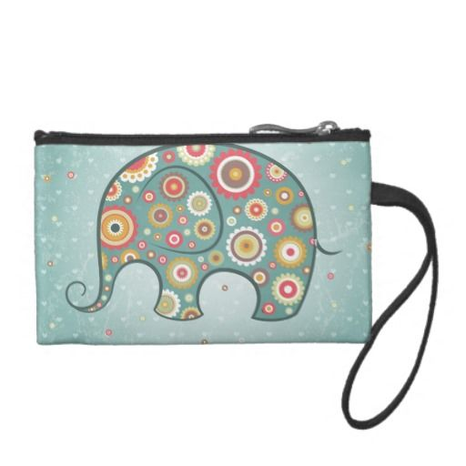 Floral elephant grunge change purses http://www.zazzle.com/floral_elephant_grunge_change_purses-223255653289084421?rf=238194283948490074&tc=pfz #floral #elephant #grunge #changepurses #zazzle