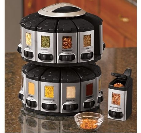 Auto Measure Spice Rack 50 With The Stackable Auto Measure Spice