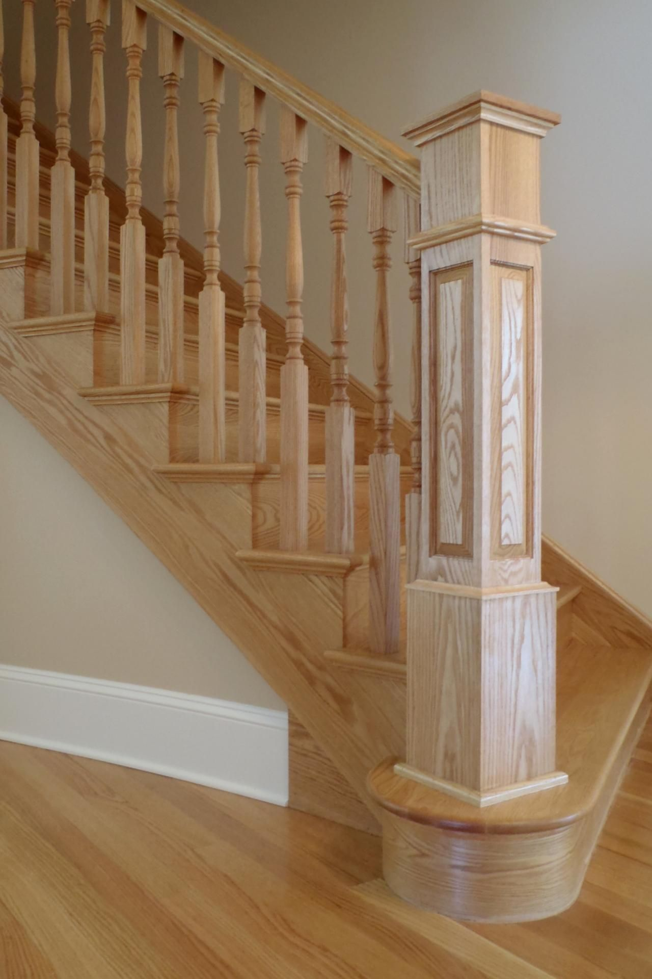 Bennett Stair Company Inc Box Newels Wooden Staircase