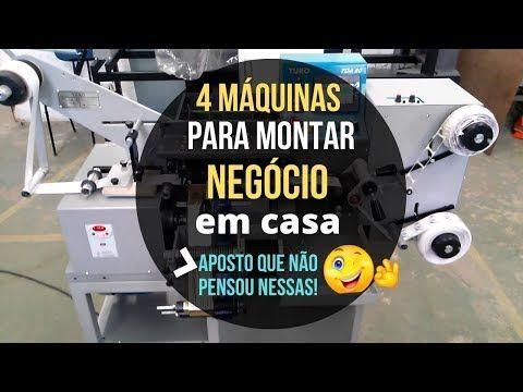4 Máquinas para montar um negócio em casa / Máquin...