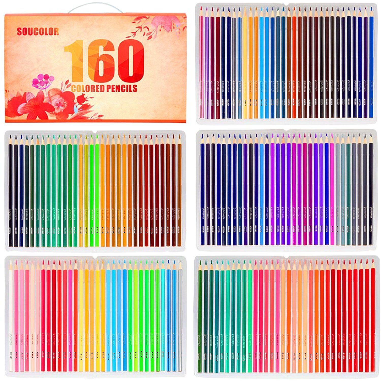 10 pcs Nylon Hair Brushes for Acrylic Oil Watercolor P Soucolor Paint Brush Set