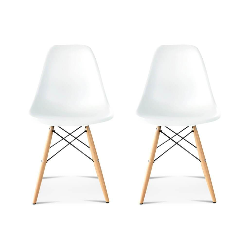 Set Of Two Dsw Molded Plastic Side Chairs Wooden Dowel Base Molded Plastic Chairs Side Chairs Plastic Molds