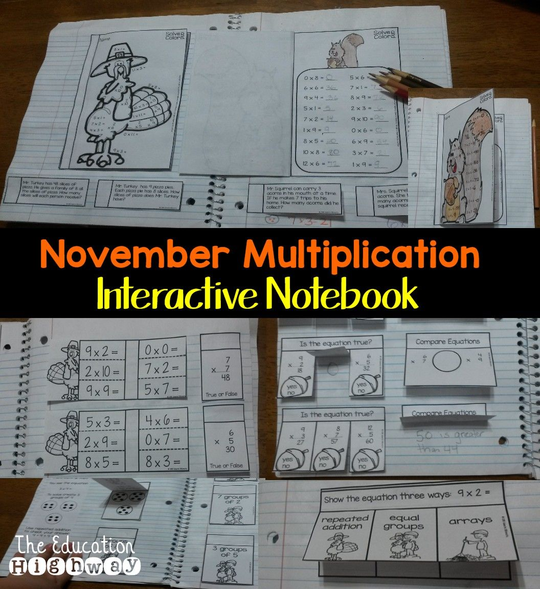 Multiplication Interactive Notebook And Worksheets For