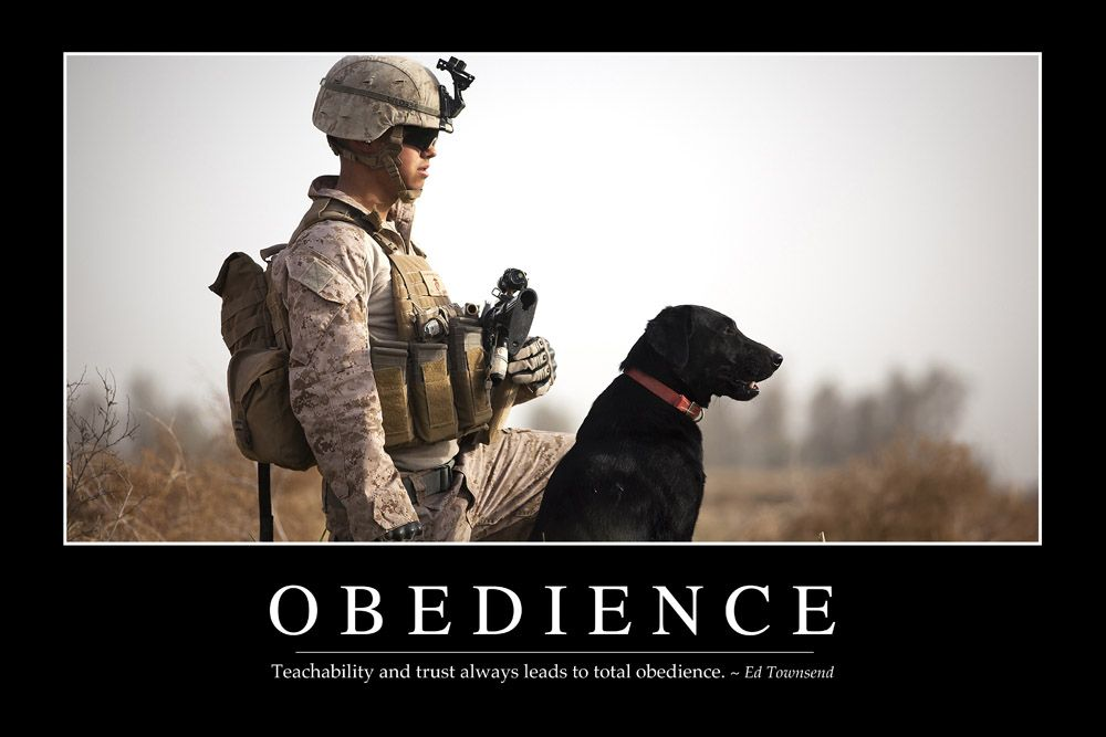 Obedience Inspirational Quote and Motivational Poster
