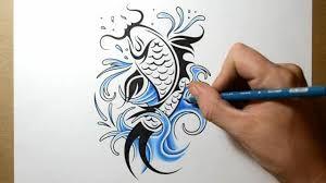 Resultado de imagen de koi fish drawings in pencil
