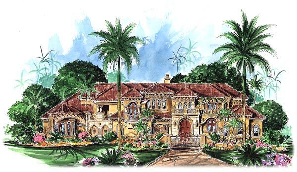 Elevation Of Florida Mediterranean House Plan Ill Take This - Elevation where i am now