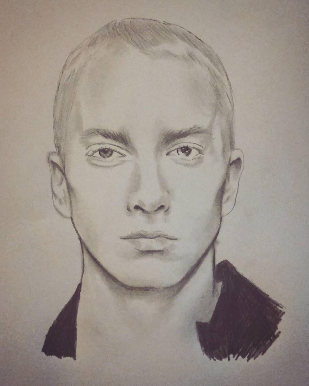 Very rushed job of eminem drawing sketch pencil eminem slimshady art
