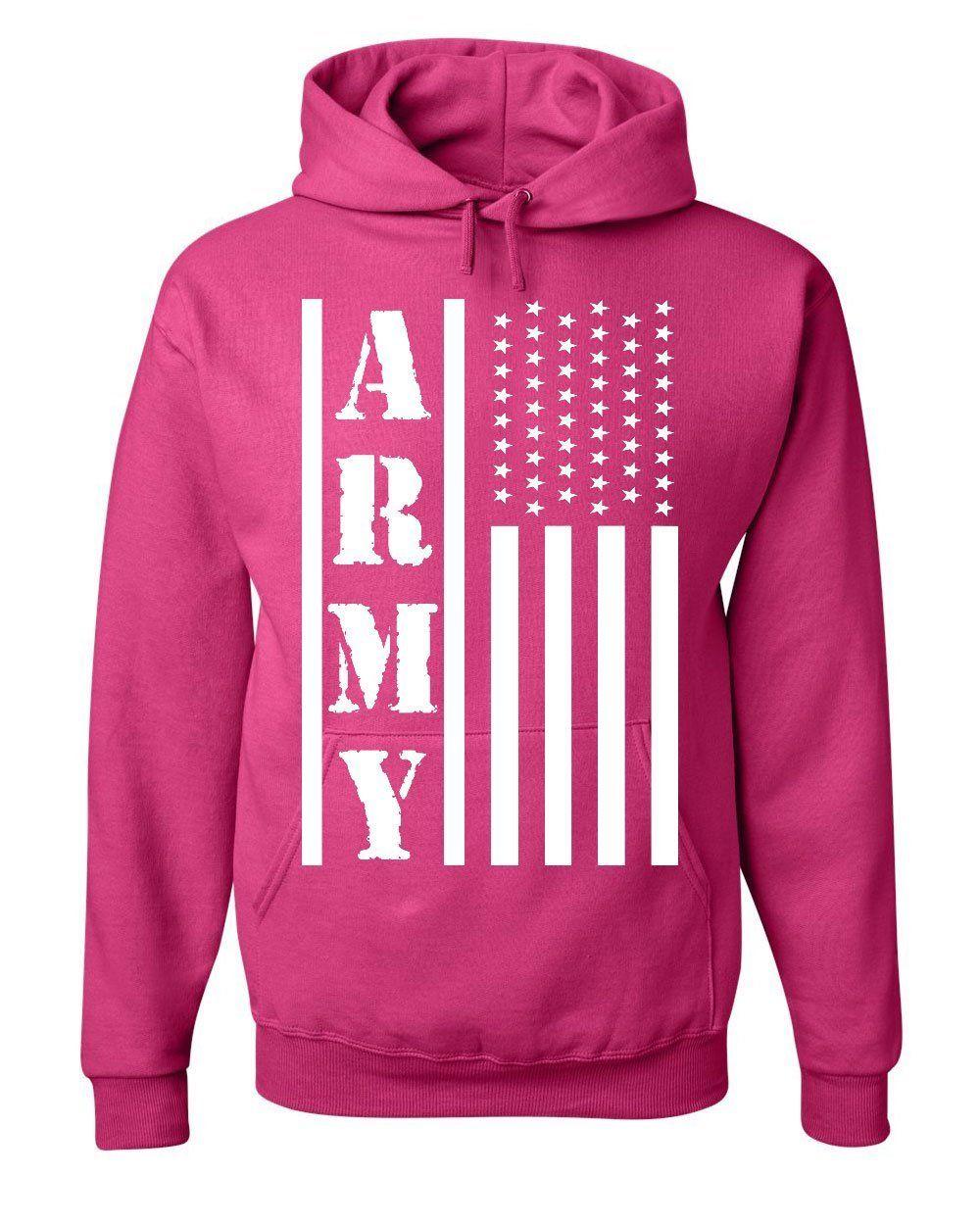 premium selection cd2ae 8506d Army Flag Military Hoodie Patriot Veteran Stars & Stripes ...