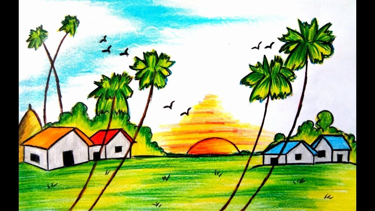 Landscape Drawing Book Pdf In 2020 Easy Nature Drawings