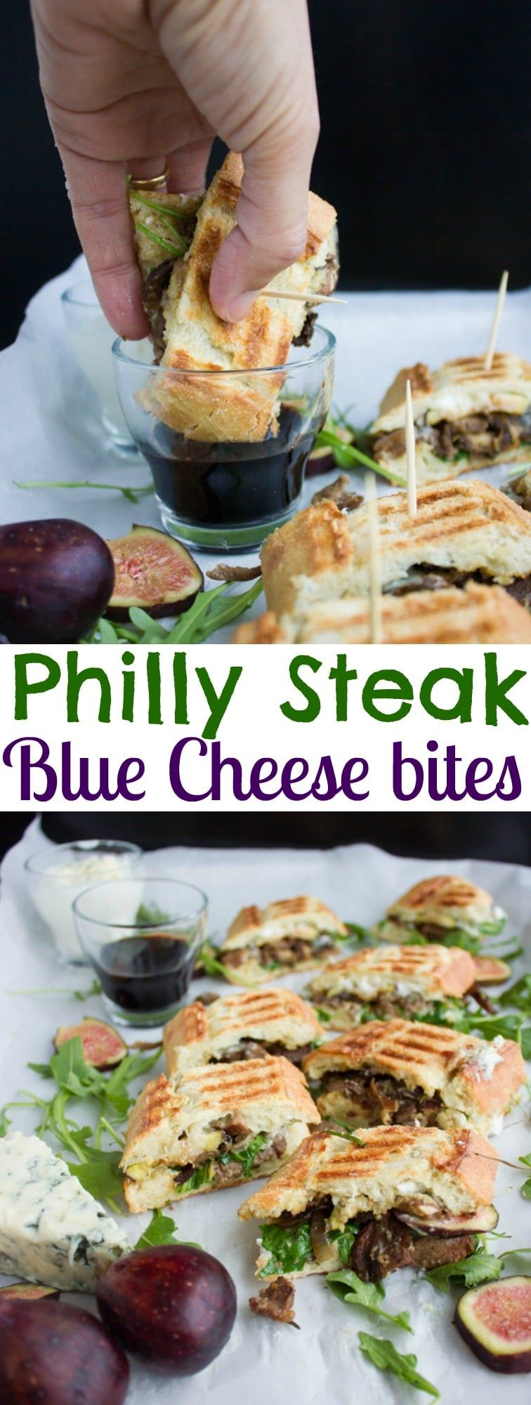 Blue Cheese Philly Steak Sandwich Bites | this recipe is a perfect pick for lovers of steak, sandwi