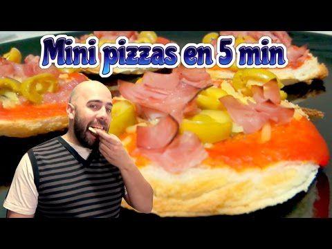 Como hacer mini pizzas en 5 minutos. Recetas fáciles, rápidas y deliciosas | Cocinar en casa es facilisimo.com