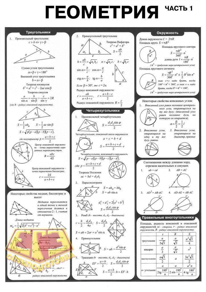 ответы по алгебре 7 класса геометрии