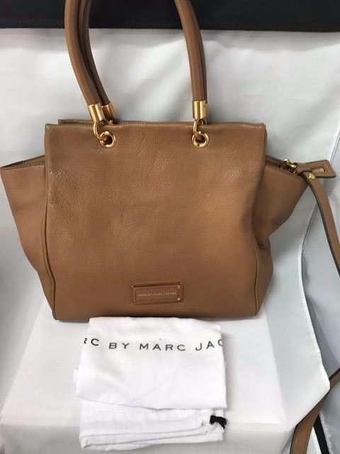 Marc By Marc Jacobs M0001341 Praline Brown Too Hot To Handle Satchel MJ14A