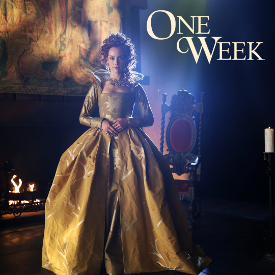 Queen Elizabeth takes the throne when ‪Reign‬ premieres in ONE WEEK!