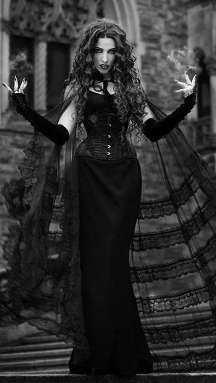 daedra goth curly hair | gothic wedding in 2019 | gothic