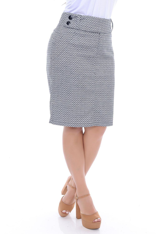 605856722 Saia Sarja Plus Size - Chic e Elegante