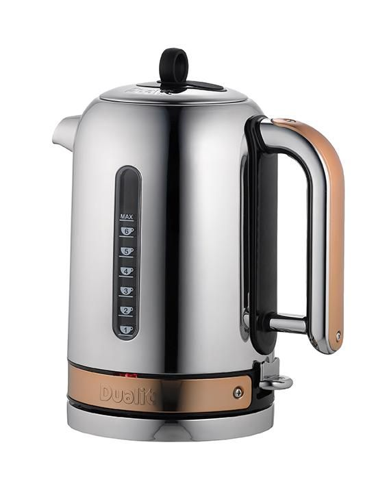 Dualit Polished Chrome Classic Kettle with Copper Trim, 1.7 Litre: Amazon.co.uk: Kitchen & Home