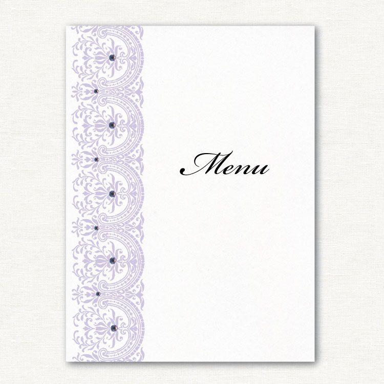 Elegance Pearlescent Menu Card http://ivyellenweddinginvitations ...