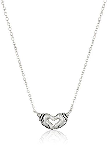 """Disney Sterling Silver Mickey Mouse Hands Forming A Heart Pendant Necklace, 16.5""""+ 2"""" Extender Disney http://www.amazon.com/dp/B00U12OP5I/ref=cm_sw_r_pi_dp_9Jcbwb0Y2C69E"""