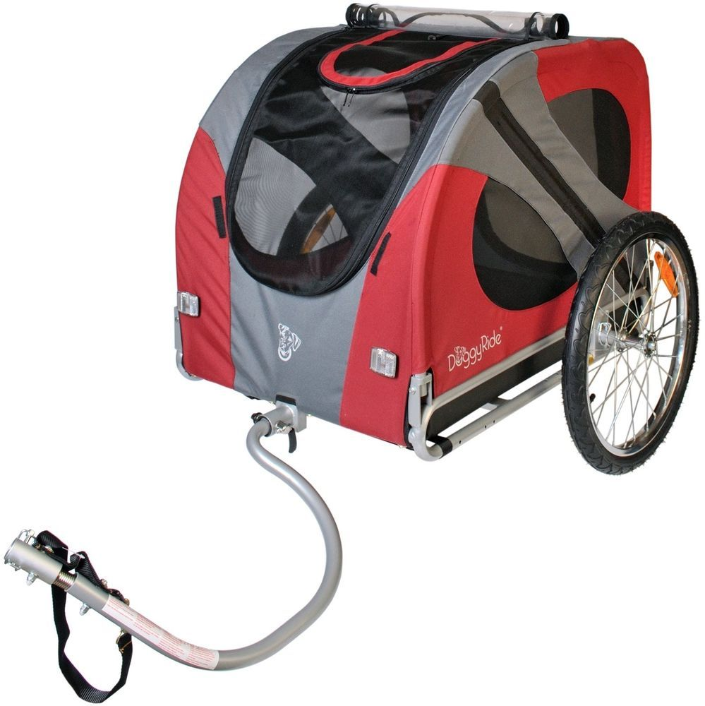 3 IN 1 Pet Dog Bike Trailer Bicycle Trailer Riding Carrier ...