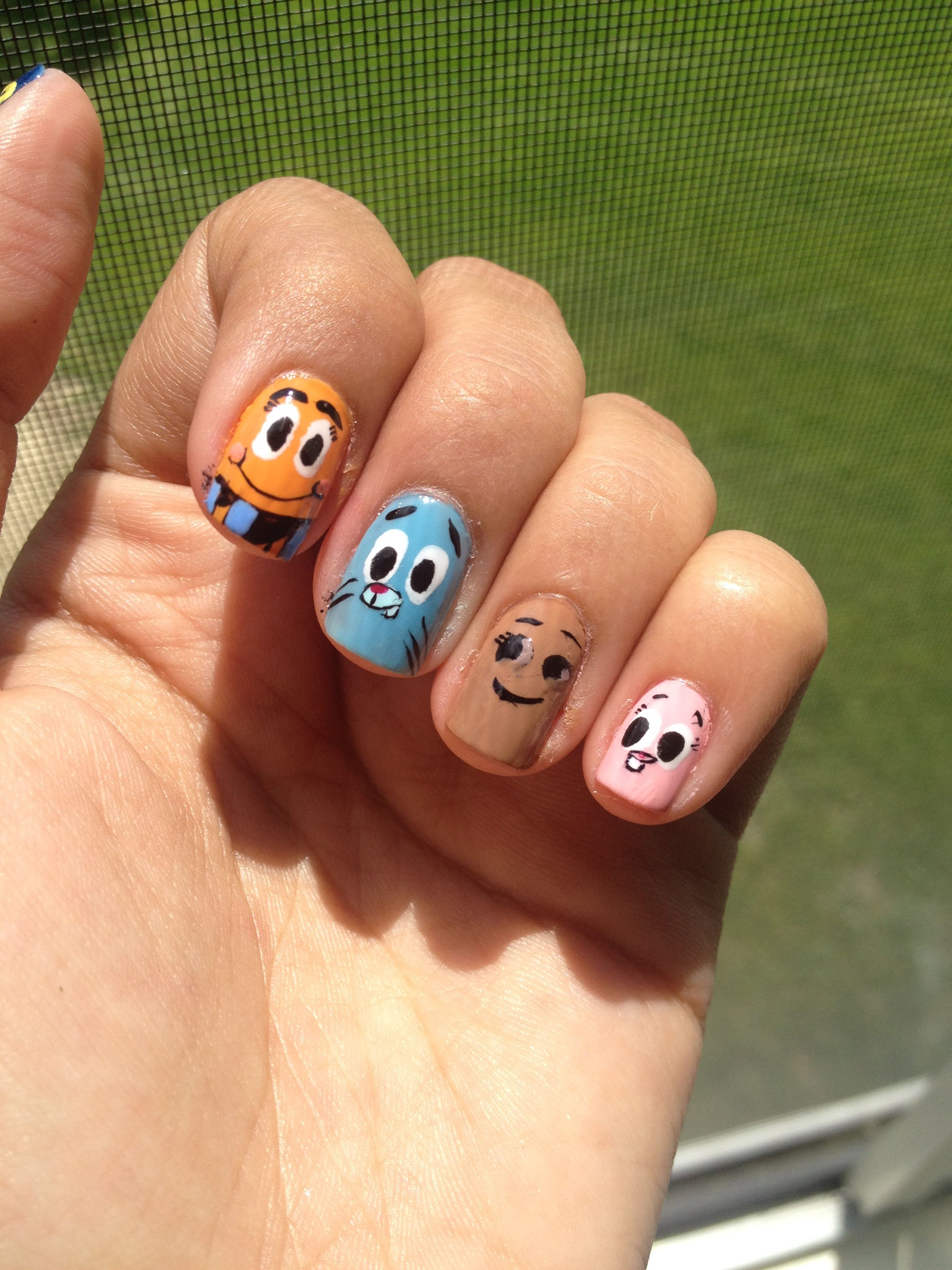 The Amazing World of Gumball nails :) Darwin, Gumball, Penny, and ...