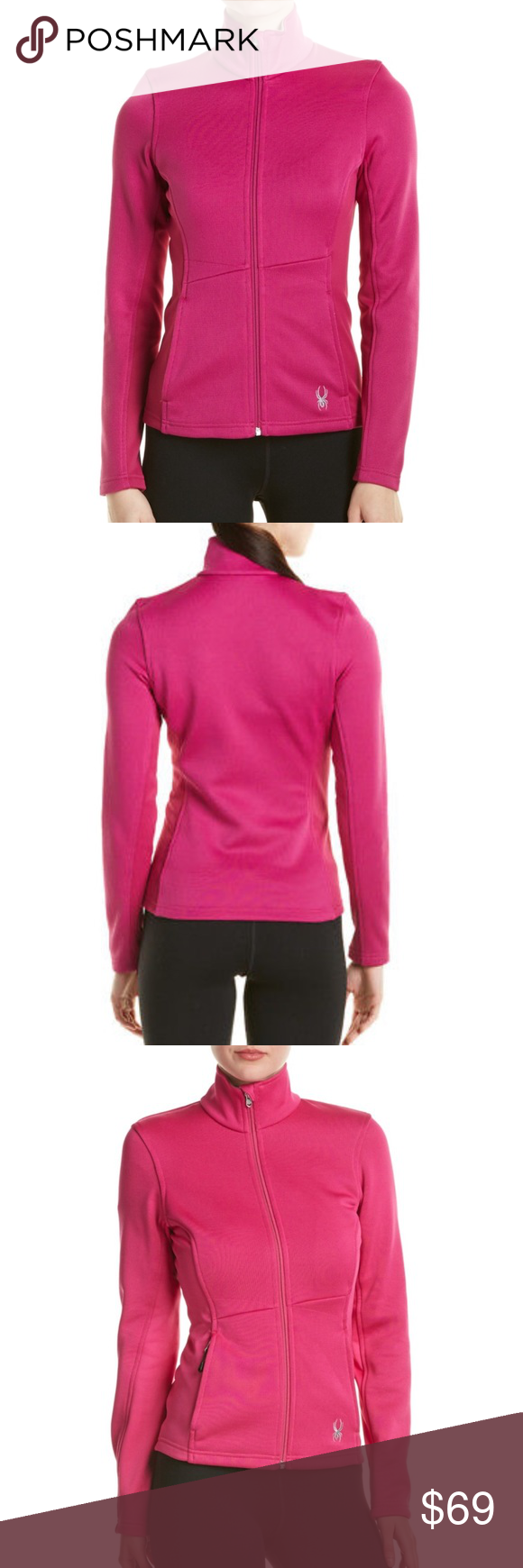 Spyder jewel core voila pink zip up sweater jacket NWT | Jewel ...
