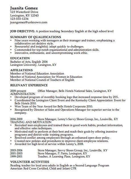 Http Resume Ansurc Com Teacher Resume Examples