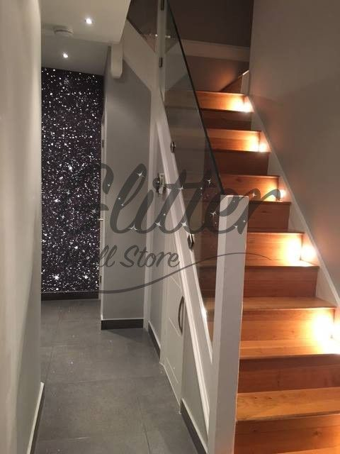 Grey Glitter Wallpaper Hallway Glitter Home Decor Glitter Wallpaper Bedroom Glitter Wallpaper