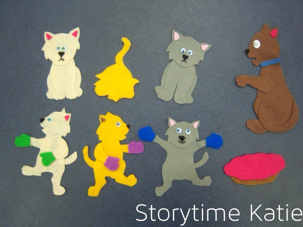 Flannel Friday Three Little Kittens Flannel Friday Flannel Board Stories Daycare Crafts