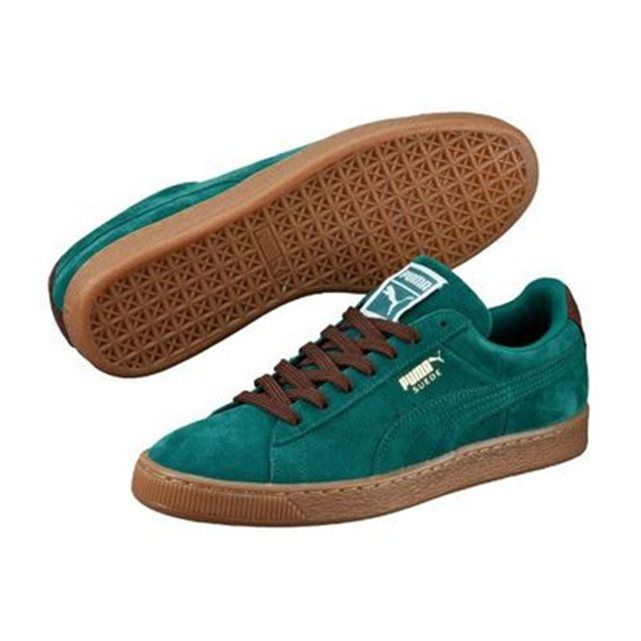 BruneSneakers Puma Vert Turquoise Storm Suede Semelle Chaussures fbgy67